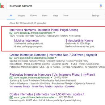 Google AdWords Reklama (Google Ads) / Arminas Ubartas / Darbų pavyzdys ID 371411