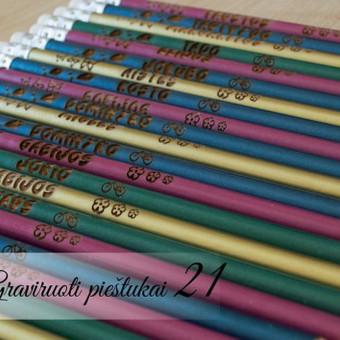 Pieštukai klasės vaikams. Kiekvienam vaikui asmeninis pieštukas dovana išleistuvių ar rugsėjo pirmosios visai klasei.