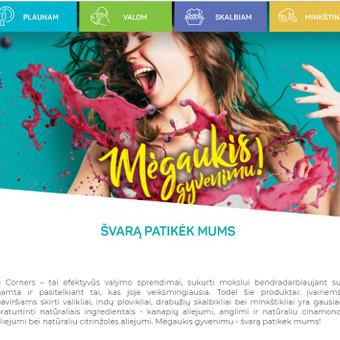 4 Corners kūrybinės koncepcijos bendraautorė, internetinio puslapio tekstų kūrėja.