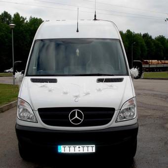 Keleivinių baltų Mercedes Sprinter mikroautobusų nuoma / Algimantas / Darbų pavyzdys ID 374081