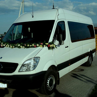 Keleivinių baltų Mercedes Sprinter mikroautobusų nuoma / Algimantas / Darbų pavyzdys ID 374083