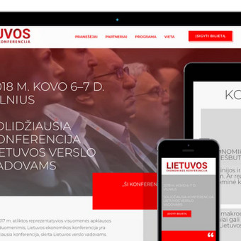 Reprezentacinė svetainė (WWW.EKONOMIKOSKONFERENCIJA.LT)