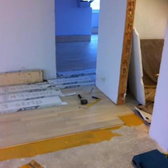 Darbai su medinėmis grindimis: klojimas, šlifavimas... / Rolandas / Darbų pavyzdys ID 375993