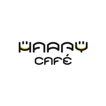Happy cafe  - kavinės kokteilinės logotipas.      Logotipų kūrimas - www.glogo.eu - logo creation.