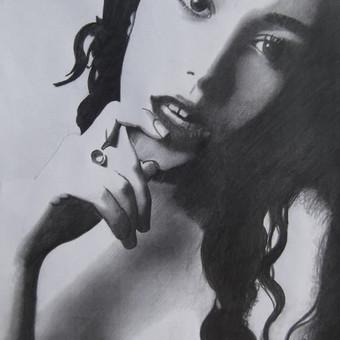 Portretų piešimas iš nuotraukų / Lina / Darbų pavyzdys ID 379445