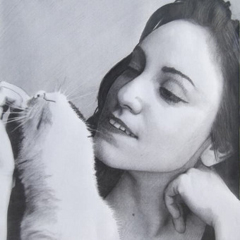 Portretų piešimas iš nuotraukų / Lina / Darbų pavyzdys ID 379451