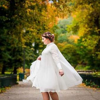 Individualiai kurta ir siūta nuotakos suknelė