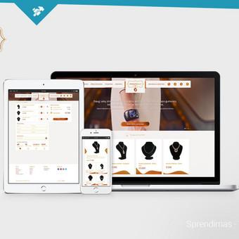 Nupieštas ir suprogramuotas unikalus dizainas. Naudojama WordPress + woocomerce turinio valdymo sistema.