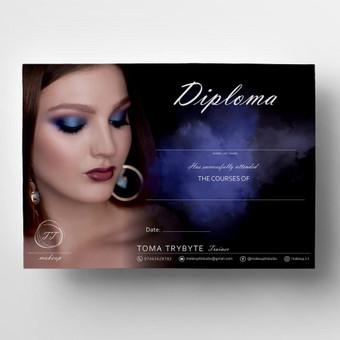 """Diplomo maketas kurtas - """"TT makeup"""""""