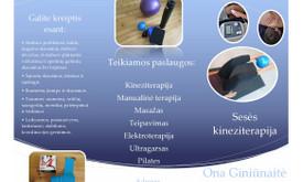 Kineziterapijos paslaugos Vilniaus centre