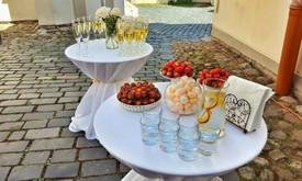 Šampano staliukas šventėms ir renginiams