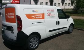Transporto priemonių apklijavimas, reklama ant automobilio