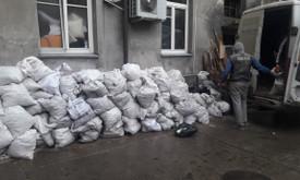 Siuksliu, statybiniu atlieku isvezimas, griovimas