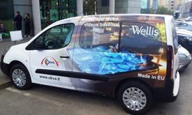 Reklama ant automobilio, lauko vidaus reklamos darbai