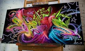 Tapyba ant sienų, aerografija, graffiti