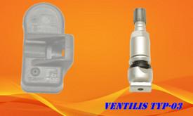 TPMS Padangų slėgio davikliai, ventiliai