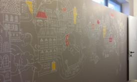 Sienų tapyba, grafika. Piesiniai ant sienu