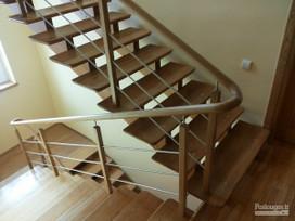 Mediniai laiptai, gamyba